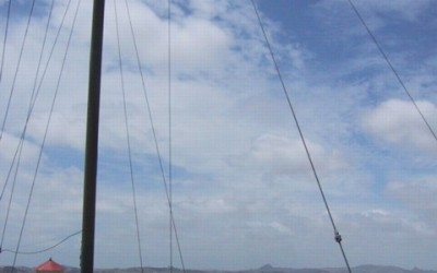 Monday's Monument: Rainbow Warrior Masts, Dargaville, New Zealand