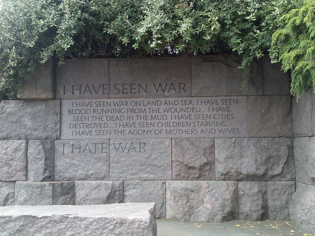 FDR: I Hate War