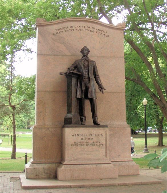 Monday's Monument: Wendell Phillips Statue, Boston, Massachusetts