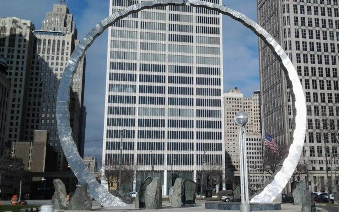 Monday's Monument: Transcending (Labor Legacy Landmark), Detroit, Michigan