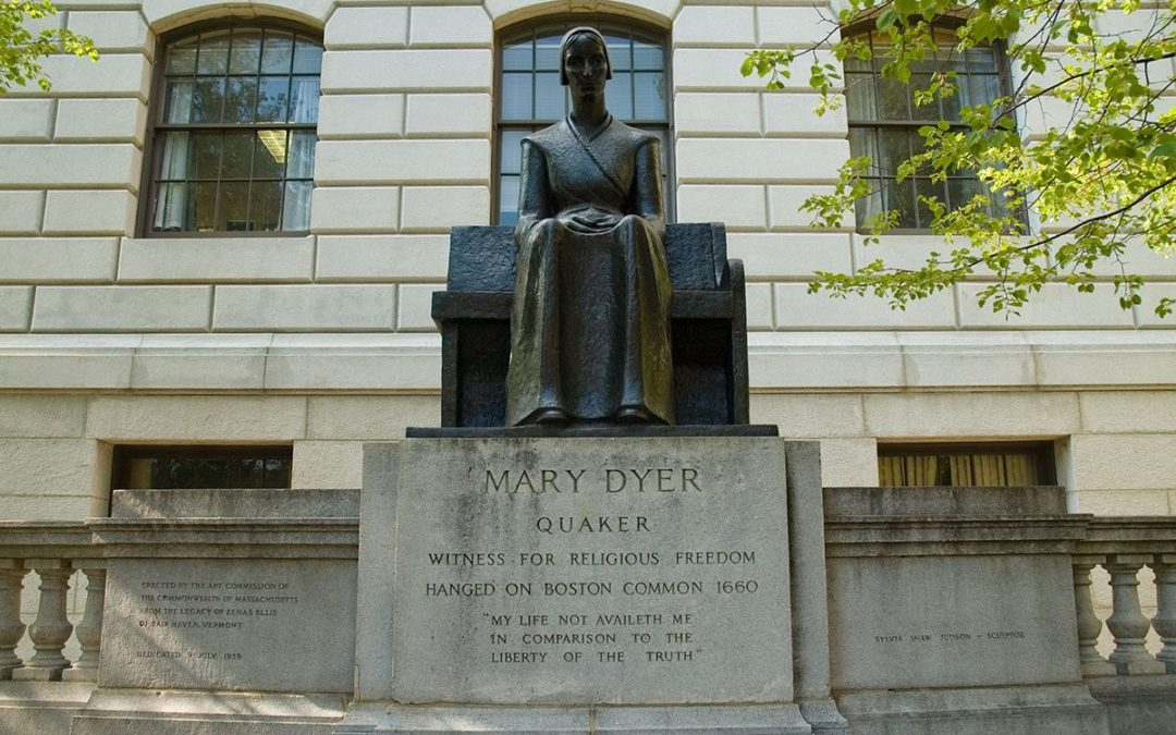 Monday's Monument: Mary Dyer Statue, Boston, Massachusetts